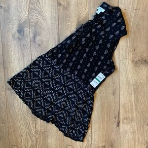 NWT Black Geometric Blouse